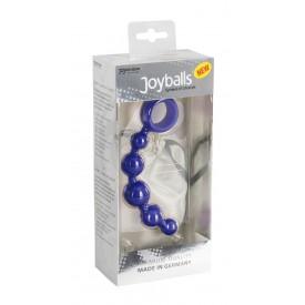 Малая анальная цепочка Joyballs Wave синего цвета - 17,5 см.
