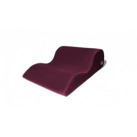 Бордовая большая подушка для любви Liberator Hipster с чехлом из вельвета
