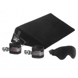 Малая подушка для любви с креплениями и маской Liberator Retail Black Label Wedge из микрофибры