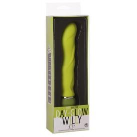 Лаймовый вибромассажер Day-Glow Willy - 13 см.